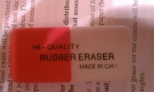 Have eraser, will erase