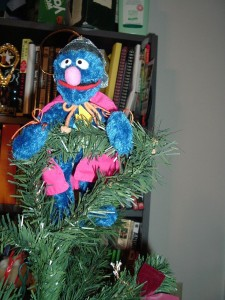 Super Grover Tops our Tree! Circa 2005