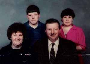 Family Photo: Mom, Bill, Dad, Me