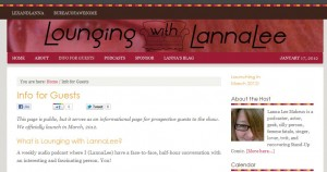 New Site: Lounging with Lanna