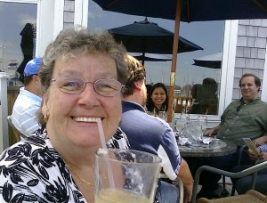 Mom with a Frosty Beverage