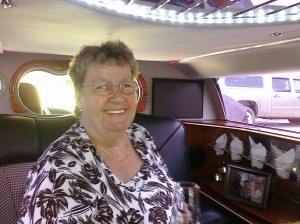 Mom in her first Limo