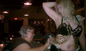 Brenna and Belly Dancer