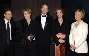 Jon Stewart, Meryl Street, Kevin Kline, Mary Tyler Moore, Senator Hilary Clinton