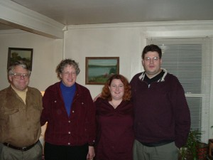 Henry, Chris, Me and Edmund - Thanksgiving 2003