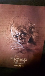 Gollum: From Four Poster Set we got at the IMAX showing of The Hobbit