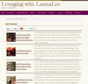 Screenshot for Past shows on Lounging with LannaLee