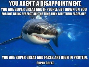 Self-Esteem Shark Knows What is Super Great